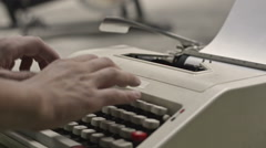 Man hands using typewriter. Hands man typing on typewriter. Vintage. - stock footage
