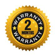 2 Months Warranty Sign Stock Illustration