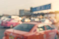 Blurry of car in Toll collecting on the expressway in Bangkok Thailand Stock Photos