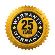 25 Years Warranty Sign Stock Illustration