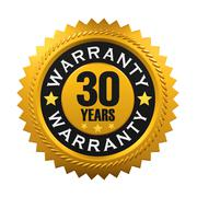 30 Years Warranty Sign Stock Illustration