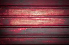 Red door garage Stock Photos