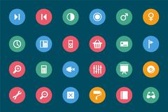 Web and Mobile Vector Icons Stock Illustration
