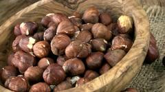 Hazelnuts (seamless loopable; 4K) Stock Footage
