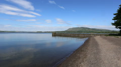 Loch Leven Perthshire Scotland Stock Footage