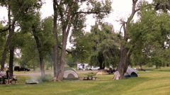 Summer camping at Cherry Creek State Park, Colorado. Arkistovideo