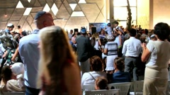 Simchat Torah celebration in Tel Aviv. Israel Stock Footage