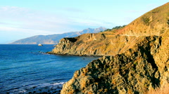 View of Bixby Bridge on California's Big Sur Stock Footage