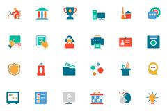 Back to School Icons Stock Illustration