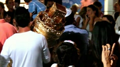 Simchat Torah celebration in Tel Aviv, Israel Stock Footage