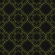 Art Deco Linear Pattern - stock illustration