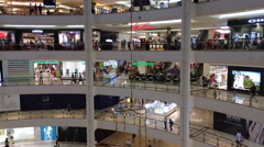 Timelapse view of shoppers in Suria KLCC Mall Stock Footage