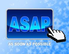 Asap Button Meaning Web Site And Push - stock illustration