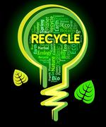 Recycle Lightbulb Representing Eco Friendly And Natural - stock illustration