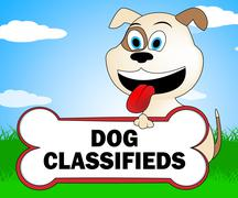 Dog Classifieds Representing Purebred Pups And Doggy Stock Illustration
