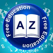 Free Education Showing No Cost And Schooling - stock illustration