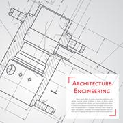 Engineer or architect illustration Stock Illustration