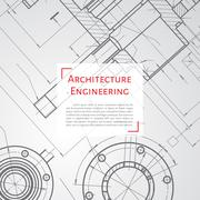 Engineer or architect illustration - stock illustration