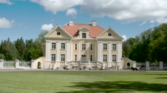 The Palmse manor in Lahemaa Estonia Stock Footage