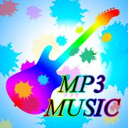 Mp3 Music Shows Melody Listening And Sound Track Stock Illustration