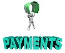 Credit Card Payments Means Paying Illustration And Remittance 3d Rendering - stock illustration