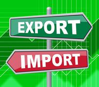 Export Import Representing Buy Abroad And Message Stock Illustration