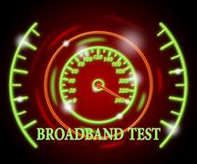 Broadband Test Representing High Speed And Indicator - stock illustration