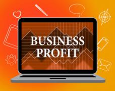 Business Profit Meaning Web Site And Corporation - stock illustration
