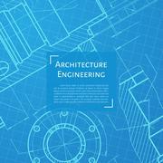 Engineer or architect illustration Stock Illustration