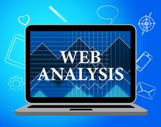 Web Analysis Representing Data Analytics And Analyse Stock Illustration