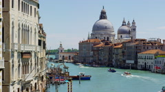 Venice church santa maria della salute Stock Footage