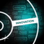 Innovation Word Representing Restructuring Improving And Innovating - stock illustration