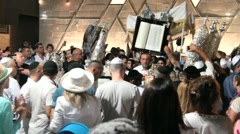 Final part of the  Simchat Torah  ceremony. Tel Aviv. Israel Stock Footage
