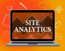 Site Analytics Indicating Pc Online And Laptop Stock Illustration