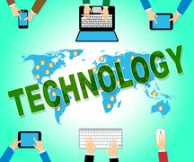 Technology Online Indicating Web Site And Electronic Stock Illustration