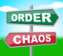 Order Chaos Meaning Reorganisation Template And Organized Stock Illustration