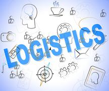 Logistics Word Meaning Strategies Analyze And Logistical Stock Illustration