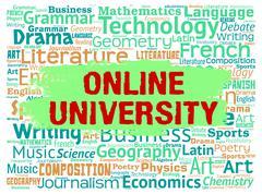 Online University Representing Educational Establishment And Study - stock illustration