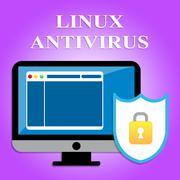 Linux Antivirus Meaning Malicious Software And Program Stock Illustration