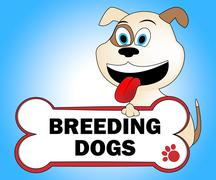 Breeding Dogs Meaning Pup Pet And Pets - stock illustration