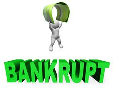 Credit Card Bankrupt Means Financial Problem And Broke 3d Rendering Piirros