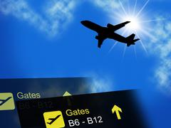 Vacation Abroad Representing Worldwide Break And Airline Stock Illustration