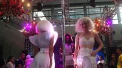 Performances of catwalk models, in Shenzhen, China - stock footage