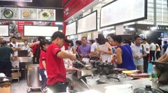 Chinese food and beverage companies to display delicious food and production Stock Footage