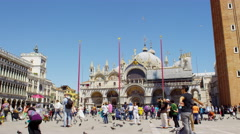 Piazza San Marco Venice Italy in UHD Stock Footage