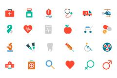 Medical Colored Icons - stock illustration