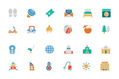 Hotel and Restaurant Vector Icons - stock illustration