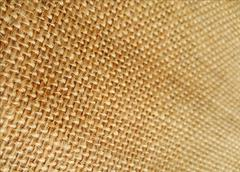 Close up of brown sackcloth texture for background - stock photo