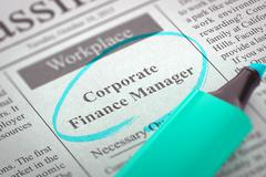 Corporate Finance Manager Hiring Now Stock Illustration