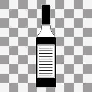 Vector Vodka bottle icon - stock illustration